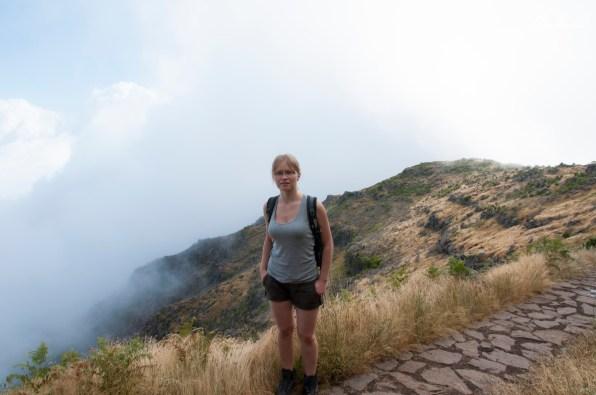 Madera: na szlaku pusto, więc sama sobie zrobiłam zdjęcie