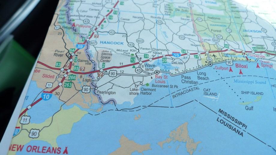 P1110059 Map H 90 Louisiana Mississippi Alabama