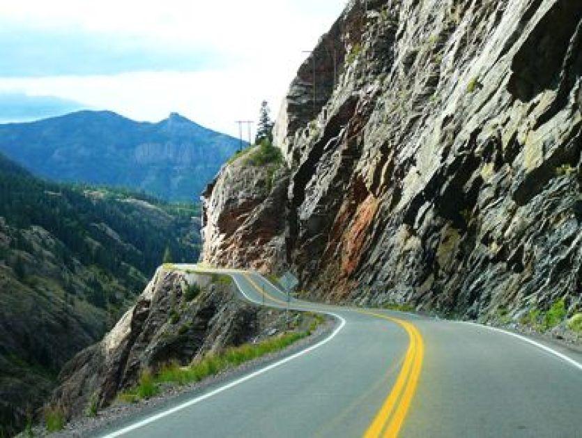 Cliff Drop Highway 2