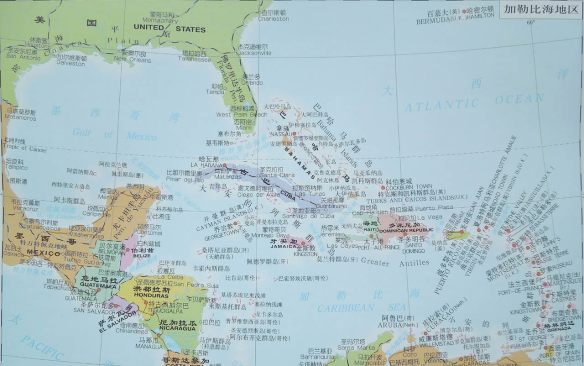 加勒比海地区图