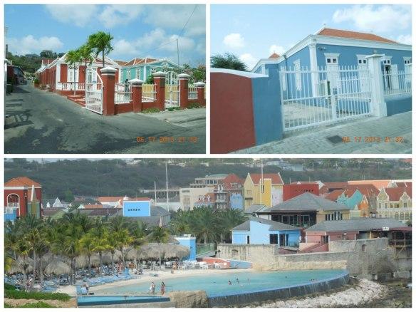 郊区的老房子和露天泳池