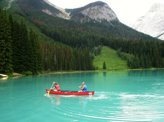 Kanoën op Lake Moraine
