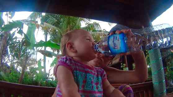 Feeding a fussy baby whilst travelling