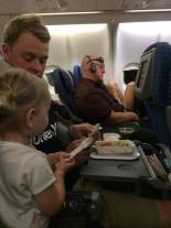 Top tips for flying with a toddler - Esmé sharing Shaun's food