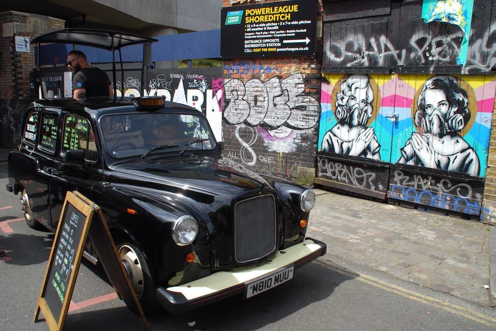 Brick Lane Market Shoreditch Londen Verenigd Koninkrijk