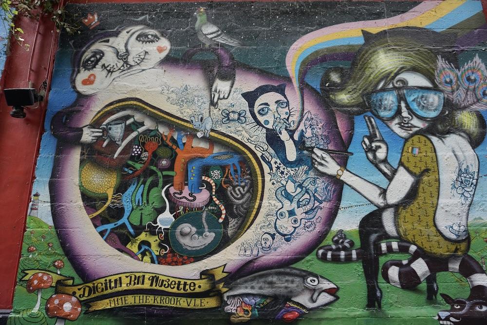 Mooie murals in Luik