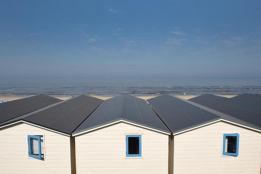 Strandhuisjes Aan Zee Slapen Wijk aan Zee Nederland