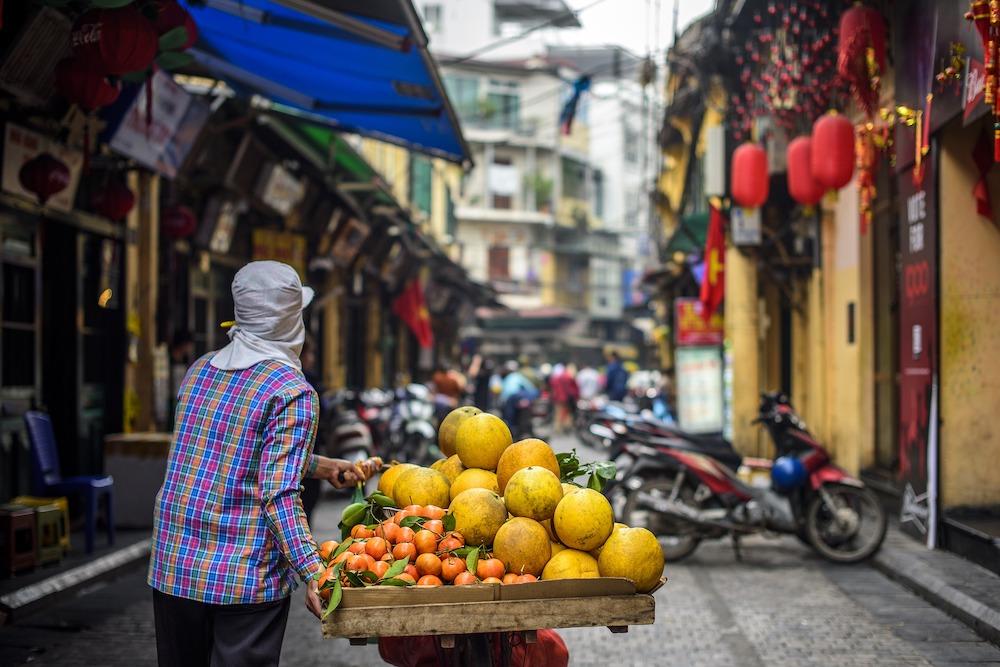 Straatbeeld Hanoi Vietnam