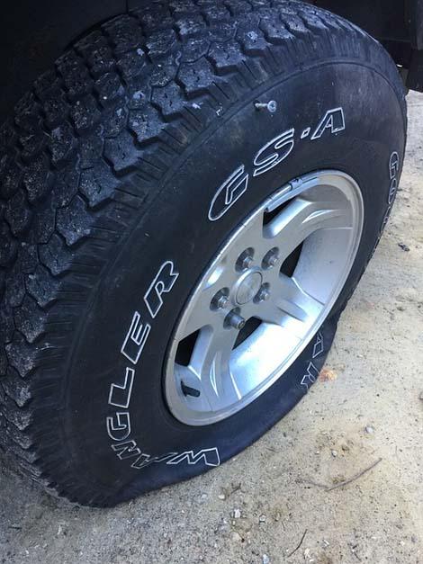 Flat Tire Hertz Rental Car
