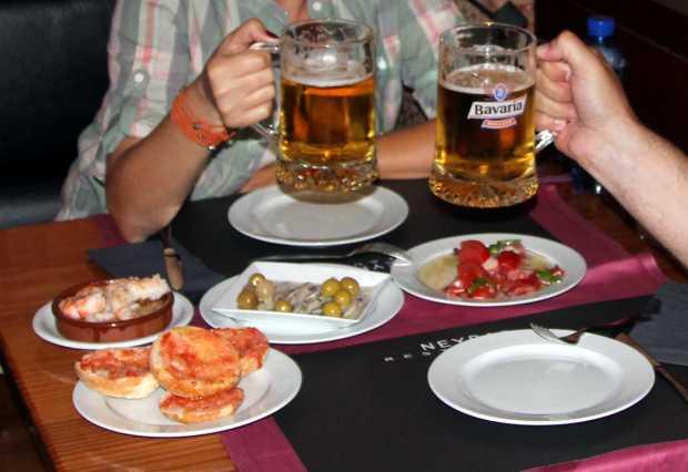 Eating Tapas in Barcelona