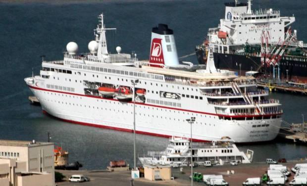 Cruise Ship Deutschland on Mediterranean Cruise