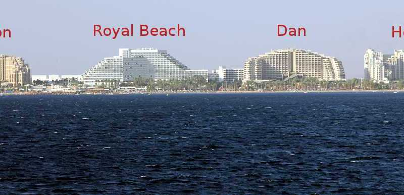 Largest Hotels on the Northern Beach, Eilat, Israel
