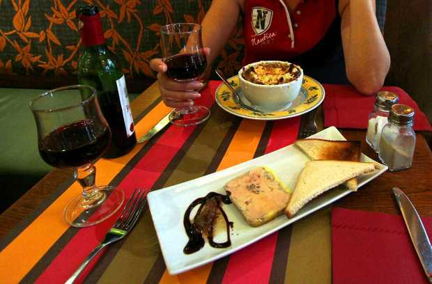 French Cuisine: Foie Gras and Onion Soup
