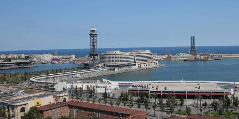 Cable Car Station at Barcelona Port