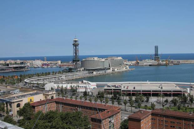 Cable Car Station at Barcelona Port