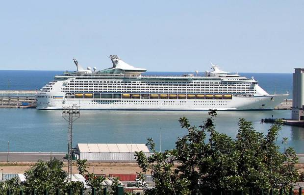 Cruise Ship Voyager of the Seas at Barcelona Port