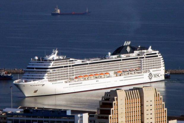 Cruise Ship MSC Orchestra Arrives to Haifa, Israel