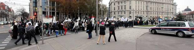 Muslim Demonstration in Vienna