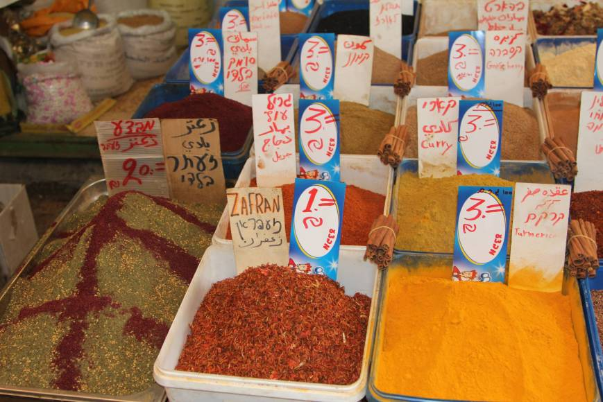 World of spices, Acre: saffron, turmeric, ginger  and chili