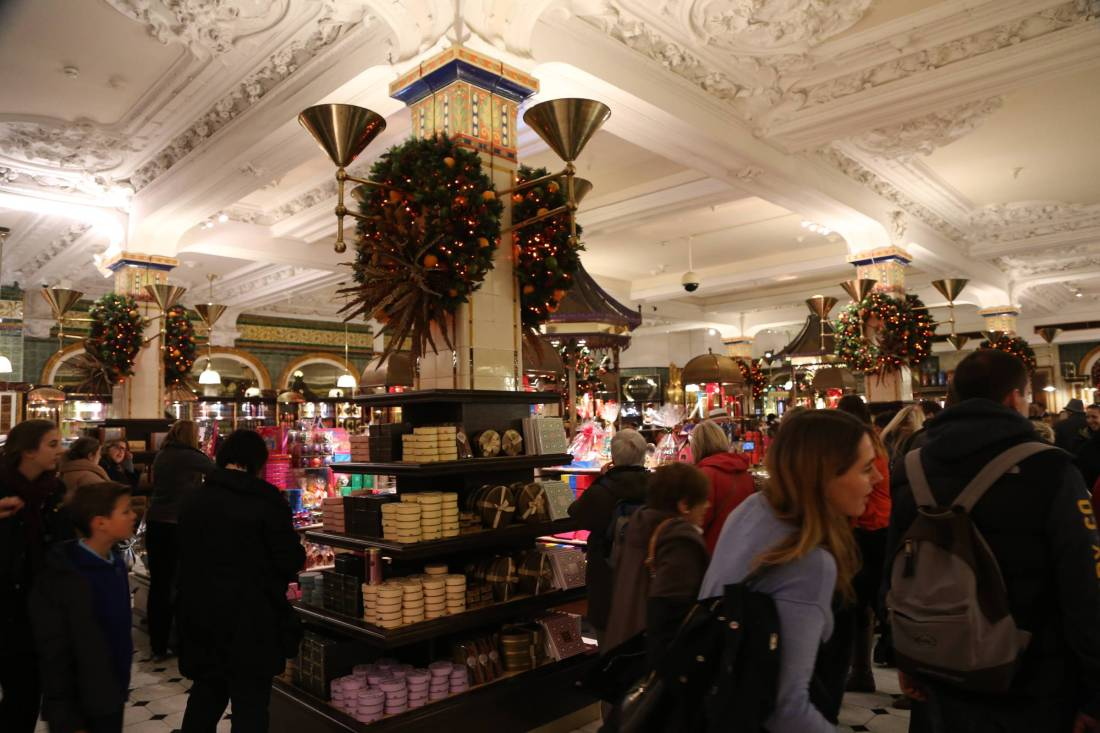 Christmas in Harrods London