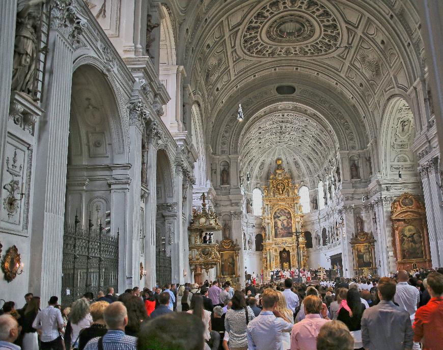 Sunday Mass in St Michael Church, Munich