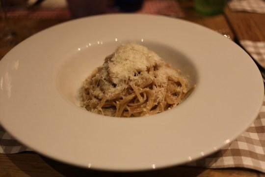 pasta with burnt butter/Parmesan sauce, Gran Caffe Diemme, Padua, Italy