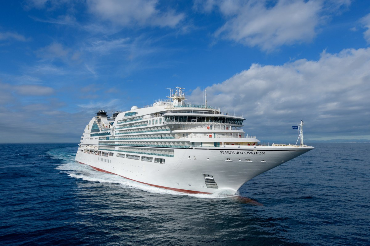 Seabourn Ovation, achieved another important maritime milestone with the completion of its final round of sea trials in the Mediterranean off the coast of Italy. Seabourn Ovation departed the Fincantieri shipyard on March 14 for four days at sea, where a team of officers and engineers tested the ship's technical and mechanical systems. Seabourn Ovation returned to the shipyard in Genoa on March 18, and staff and workers are putting the final touches on the ship. (PRNewsfoto/Seabourn)