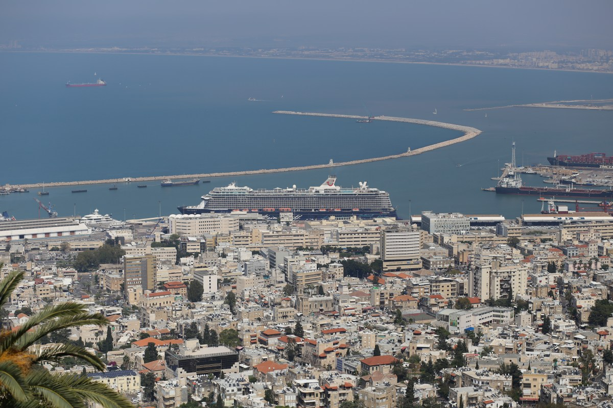 The Cruise Ship Mein Schiff 5 Embarks in Haifa