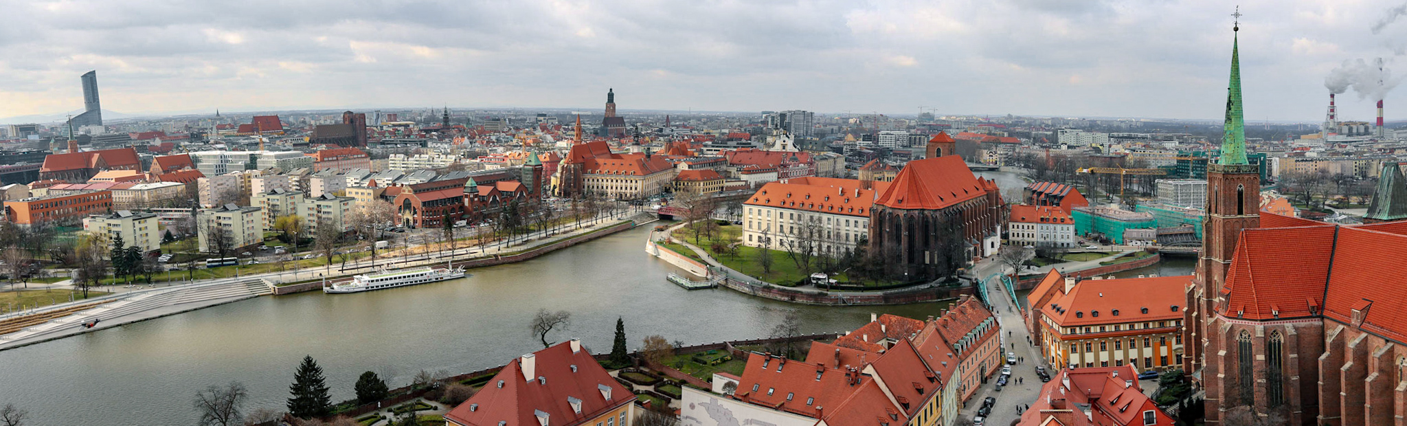 Panorama of Wrocław