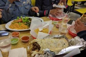 Burrito Party at the Taqueria El Farolito, Mission District, San Francisco