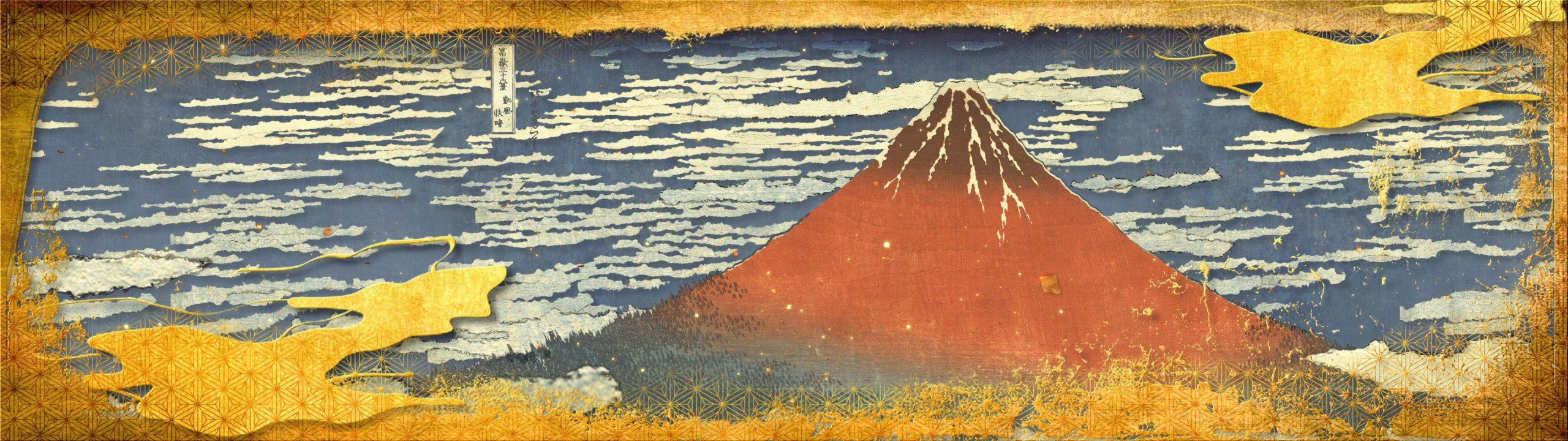 KATSUSHIKA Hokusai's ukiyo-e piece Thirty-six Views of Mount Fuji