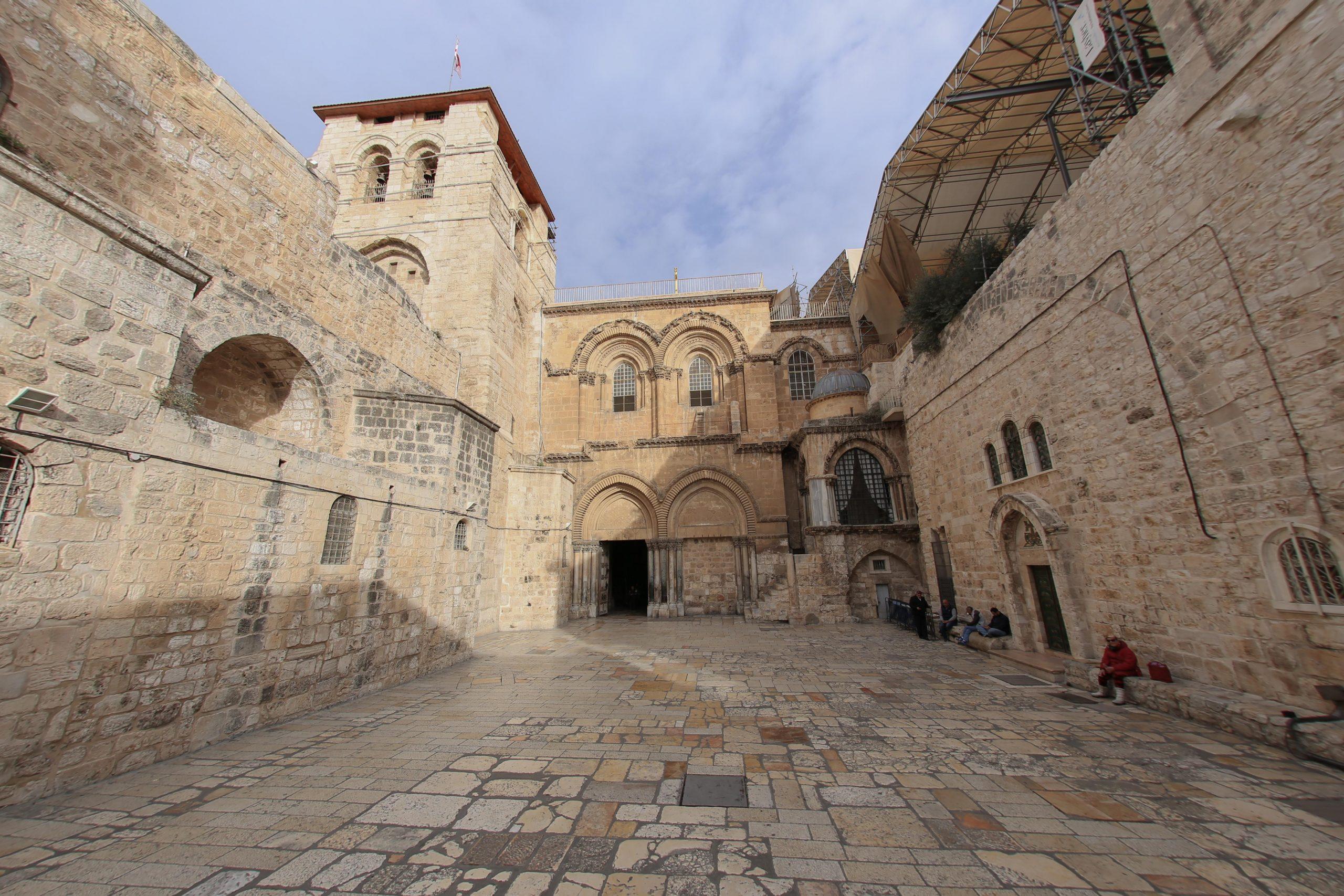 Always bustling Church of Holy Sepulcher in Jerusalem is empty