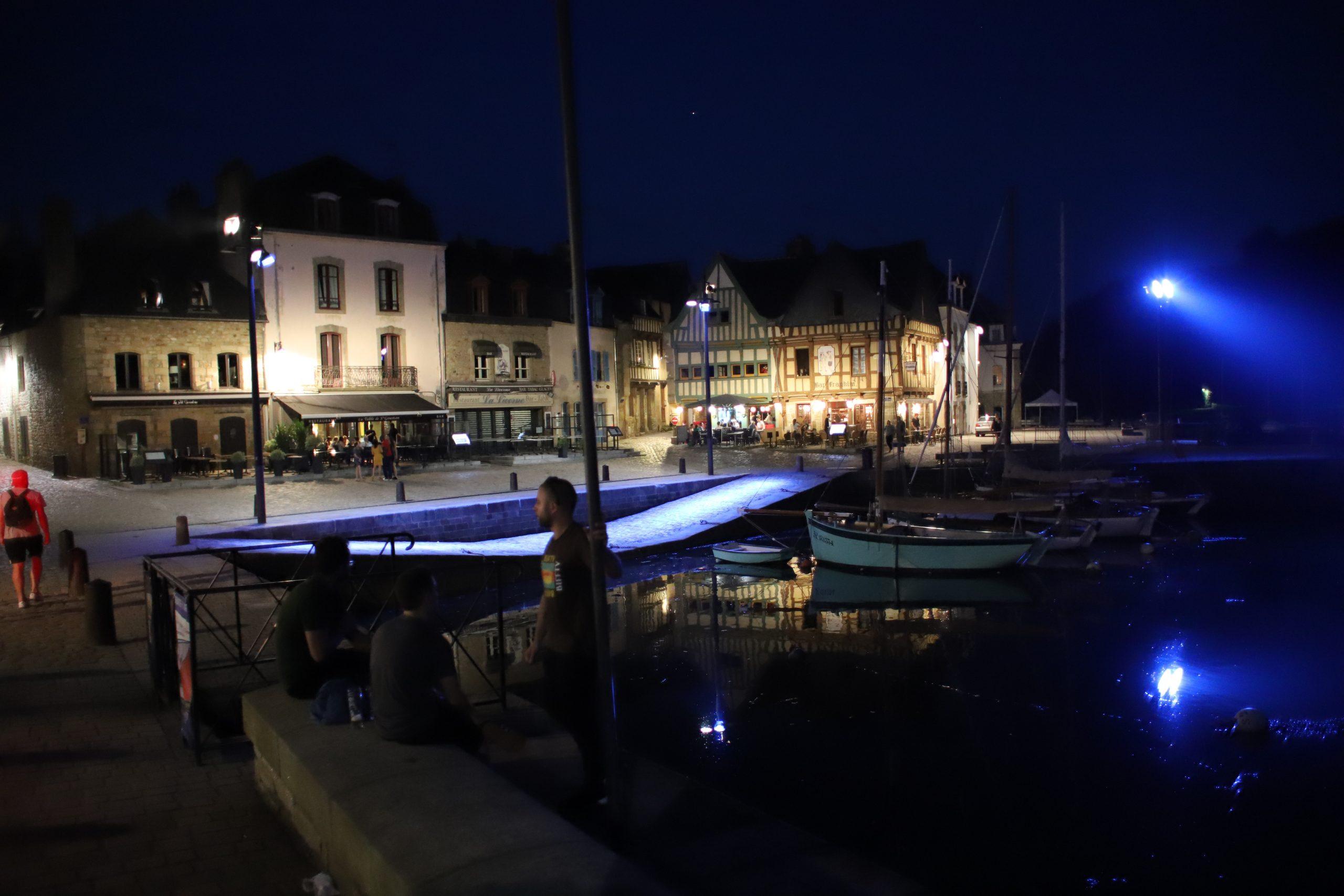 Auray at night, France