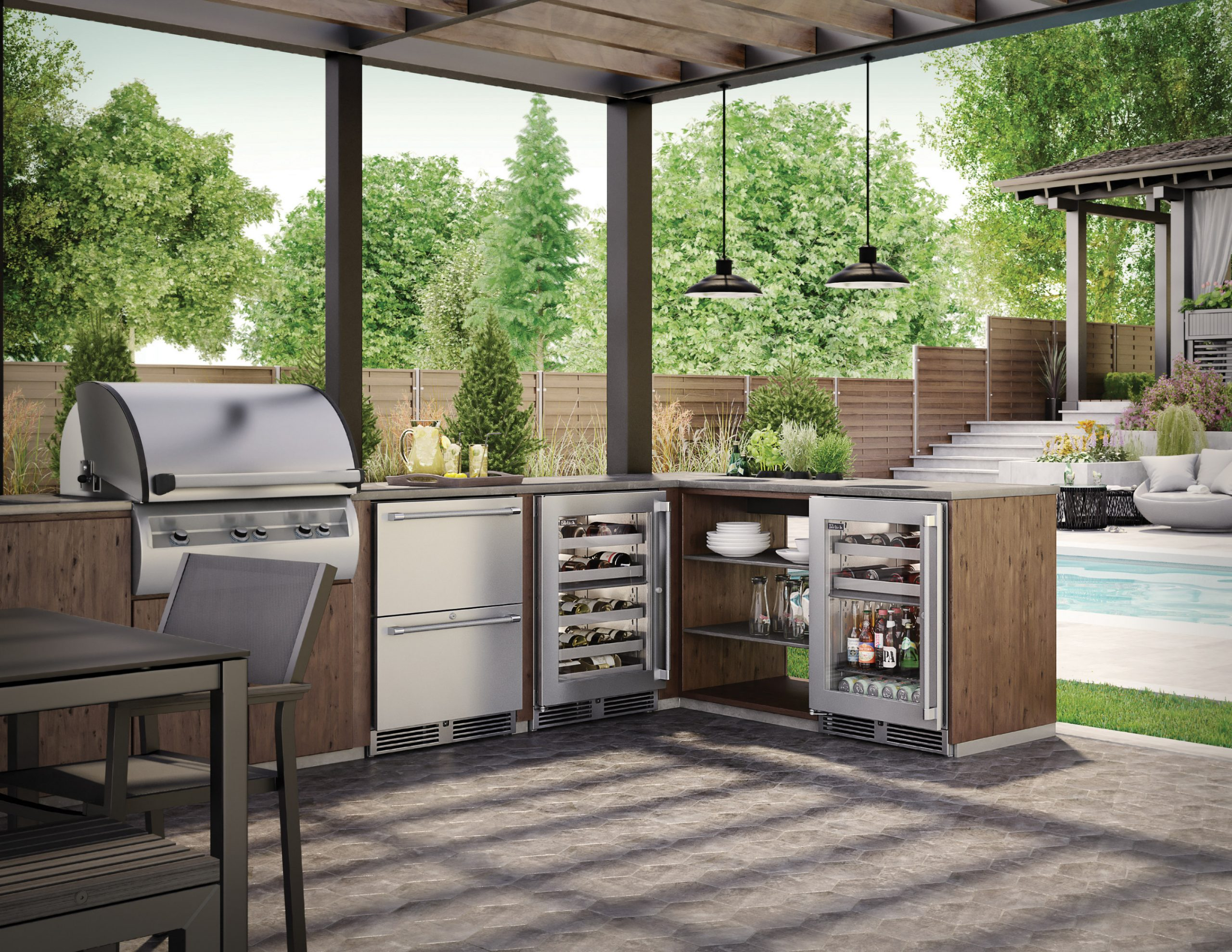 Make your backyard your summer vacation destination with Perlick.