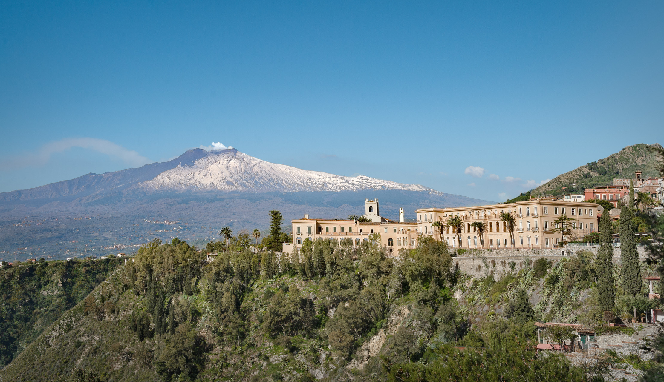 The now open San Domenico Palace, Taormina, A Four Seasons Hotel welcomes holidaymakers back to Sicily.