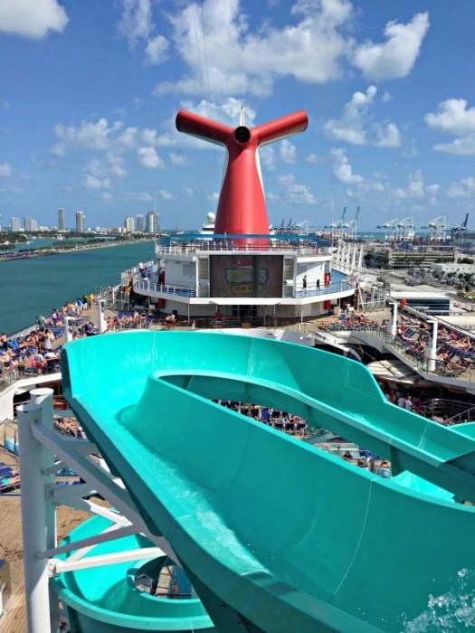 Waterslide fun on Carnival Liberty (Photo: Claudia Laroye)