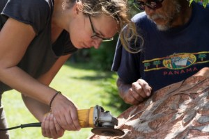 Lessons in wood Carving