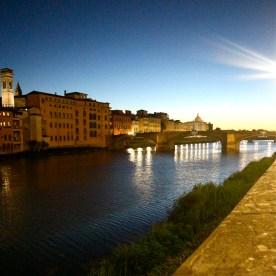 The River Arno at dusk