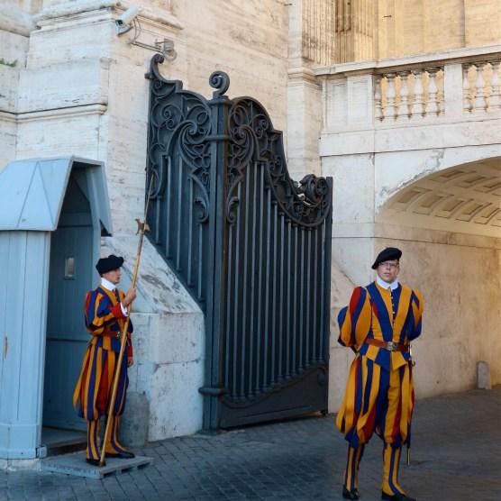 Pontifical Swiss Guards at Vatican City