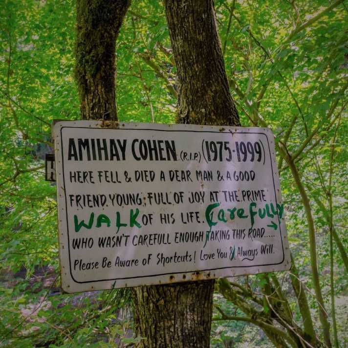 Kasol Kheerganga Trek in Parvati Valley Warning Signboard