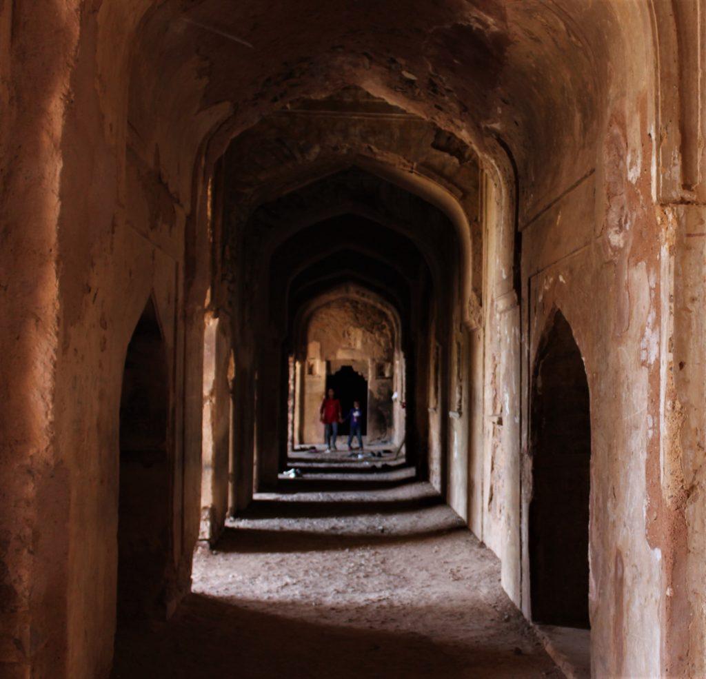 Bhangarh Fort with Kids dark alleys