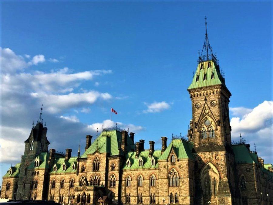 USA to Canada road trip Parliament Canada