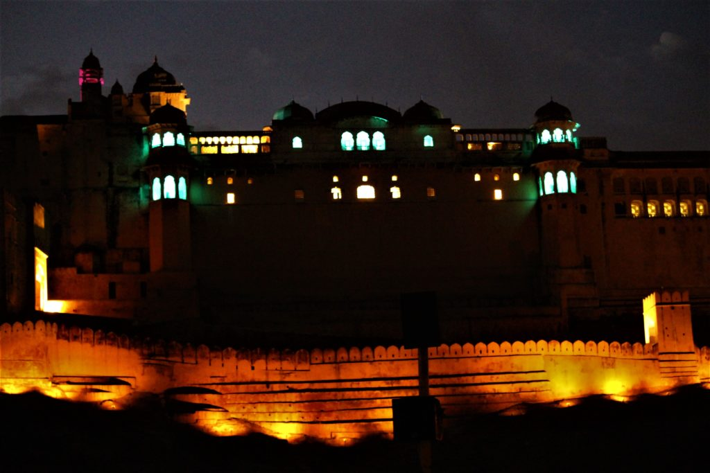 Things to do in Jaipur with Kids Light and Sound Show at Amber Palace
