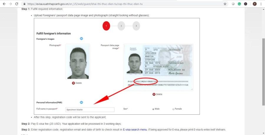 How to get a visa for Vietnam e-visa form