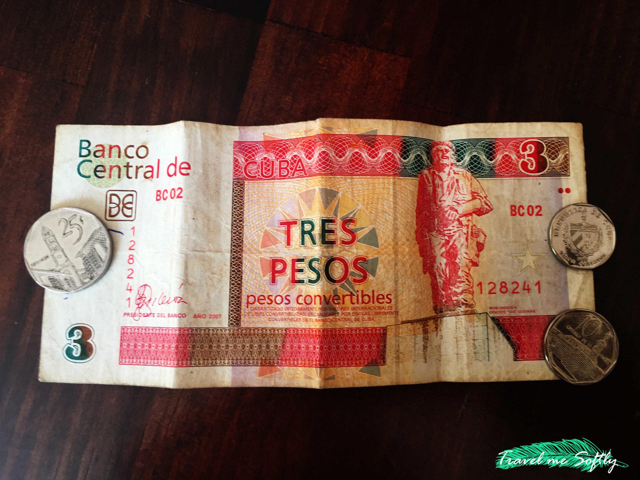 moneda cubana tres pesos convertibles