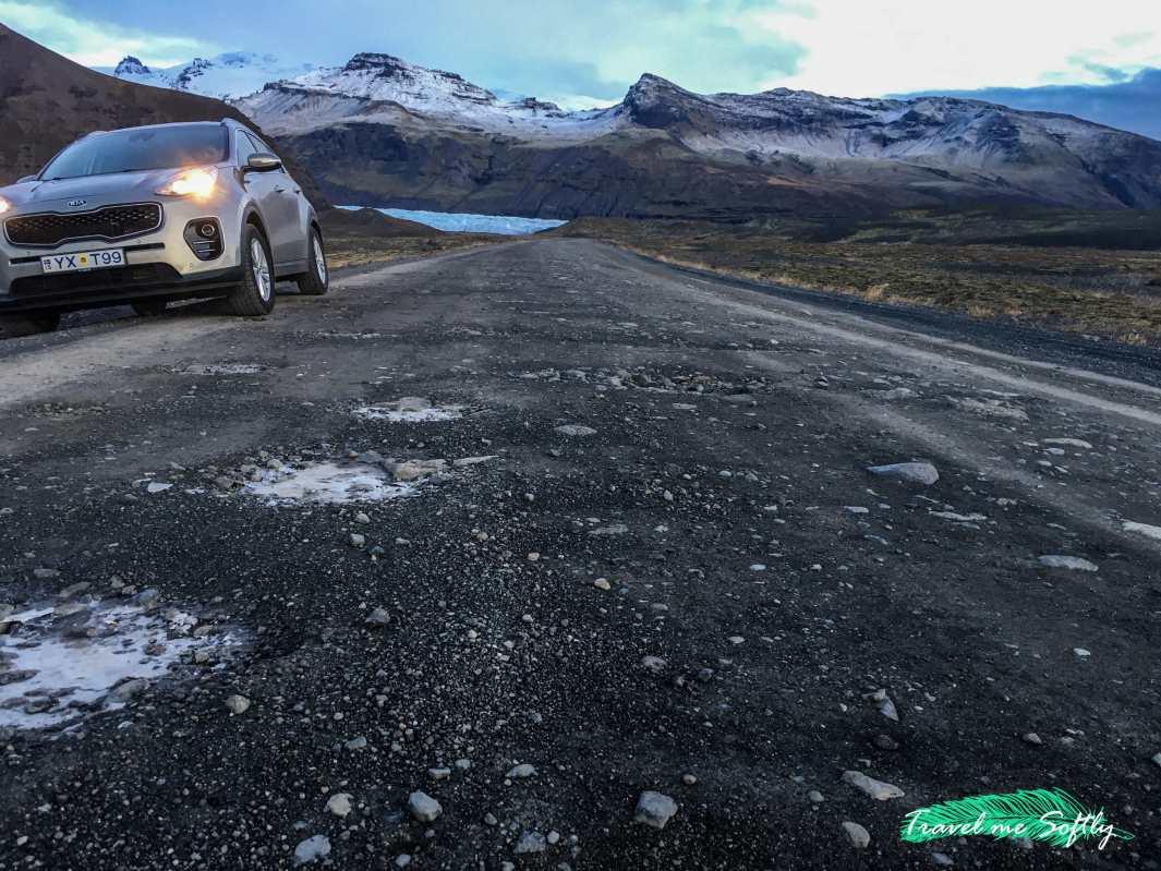 conducir en islandia en invierno svinafellsjokull