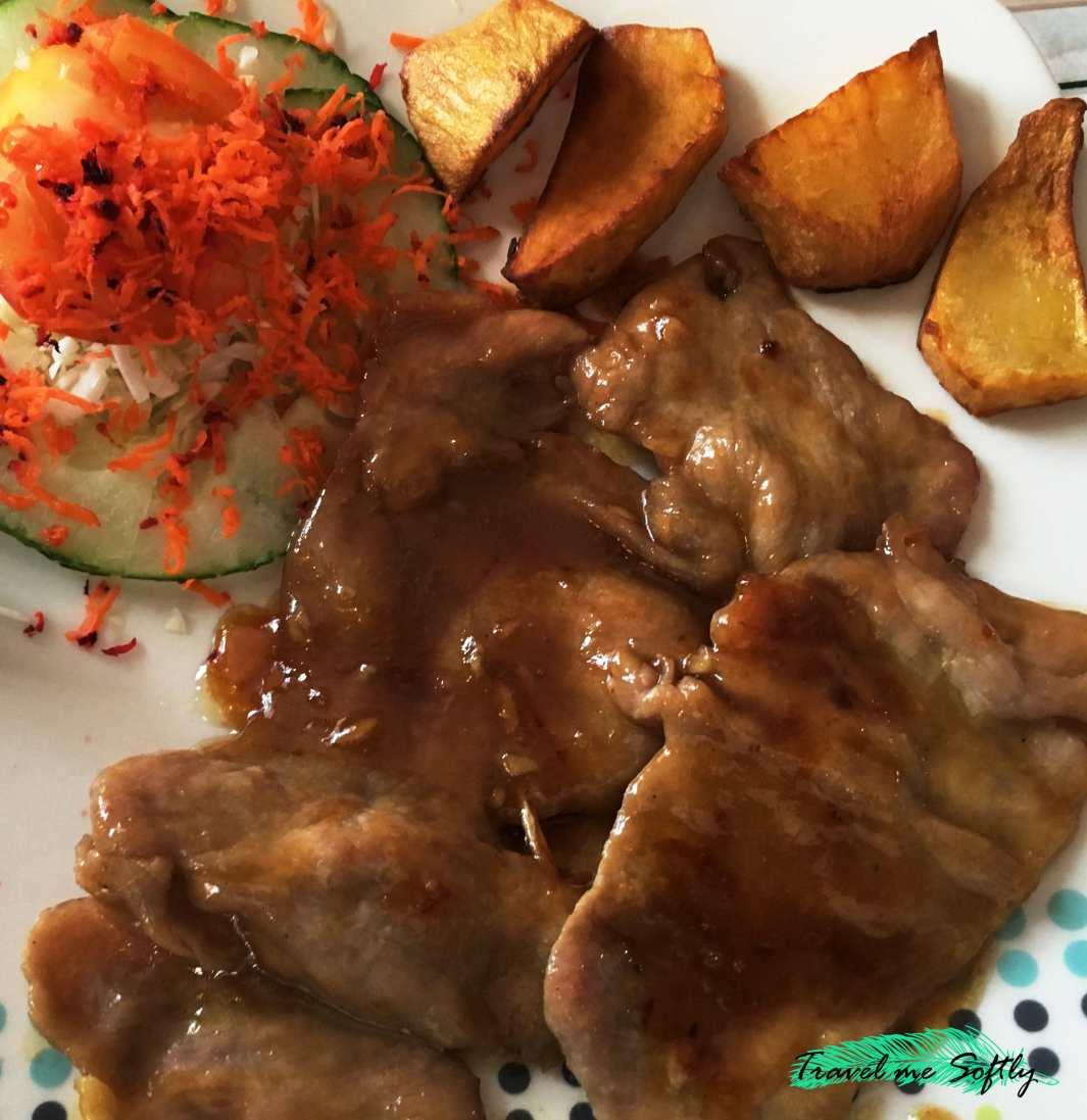 gastronomía cubana lonja de cerdo