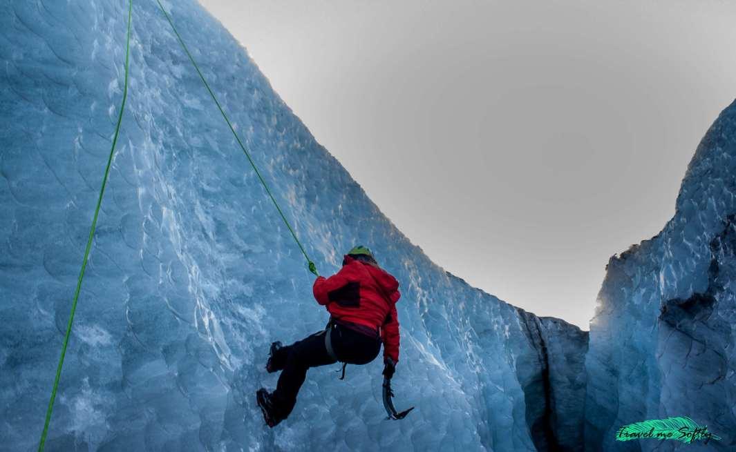 descenso escalada en hielo