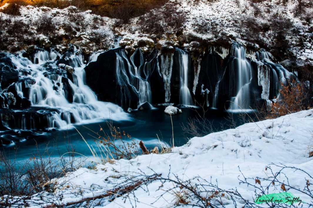 barnafoss  cascadas de islandia