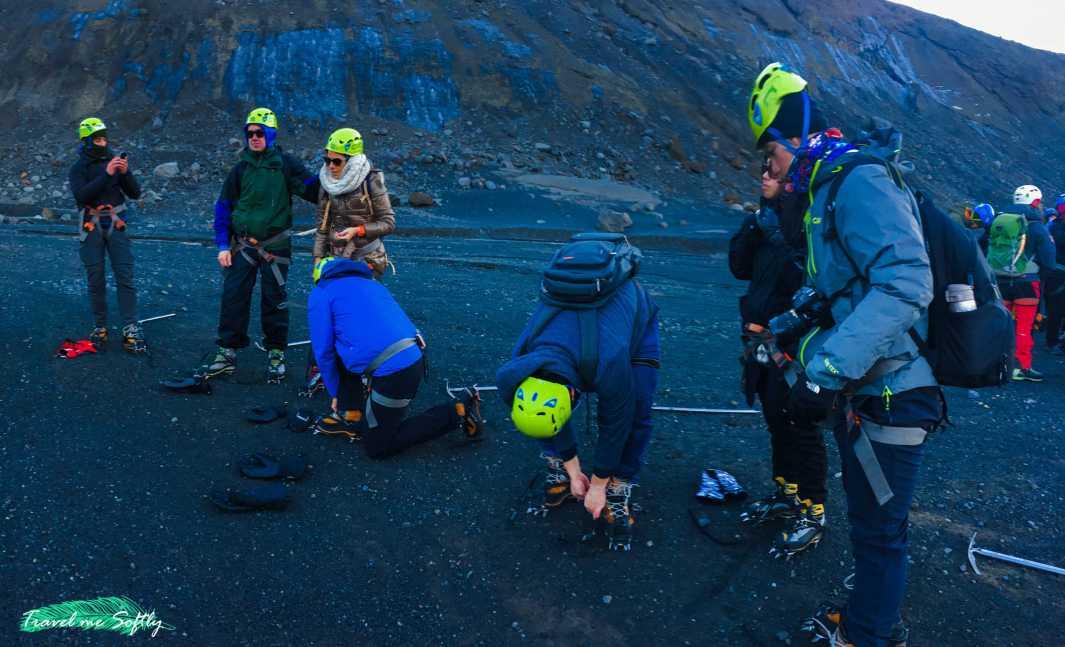 escalada en hielo con crampones